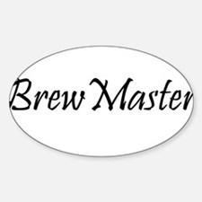 BrewMasterFilledBlack.png Sticker (Oval)