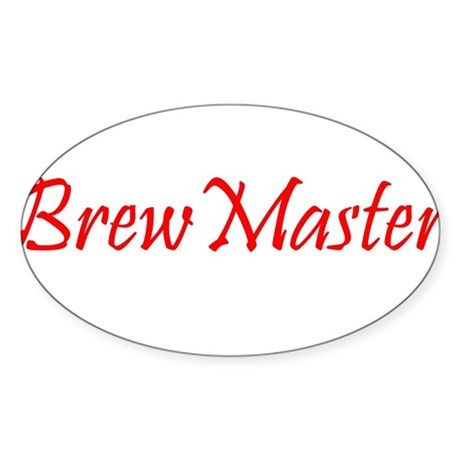 BrewMasterFilledRed.png Sticker (Oval 10 pk)