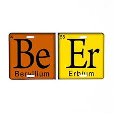Periodic-Beer.png Aluminum License Plate