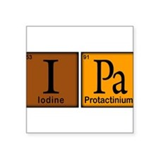 """Periodic-Beer.png Square Sticker 3"""" x 3"""""""