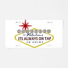 HomeBrewVegasSign.PNG Aluminum License Plate