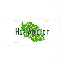 HopAddictCP.png Aluminum License Plate