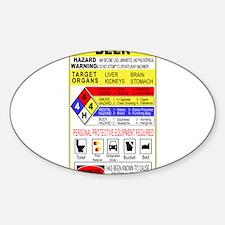 HazMatBeer2.png Sticker (Oval)