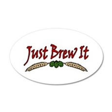JustBrewIt-White Wall Decal