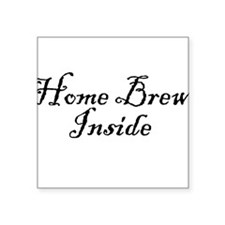 "HomeBrewInsideDark.png Square Sticker 3"" x 3"""
