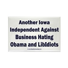 Iowa Independent Rectangle Magnet
