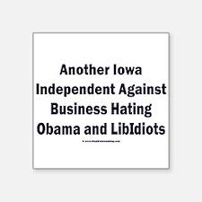 "Iowa Independent Square Sticker 3"" x 3"""