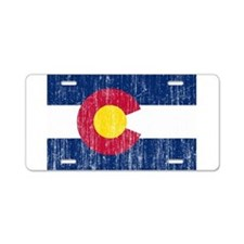 Colorado Flag Aluminum License Plate