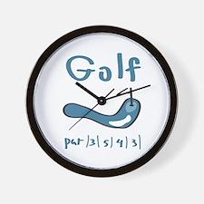 Golf1 Wall Clock