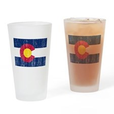 Colorado Flag Drinking Glass