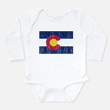 Colorado Flag Long Sleeve Infant Bodysuit
