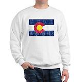 Colorado flag Crewneck Sweatshirts