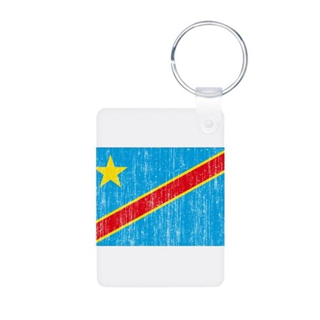 Congo Flag Aluminum Photo Keychain