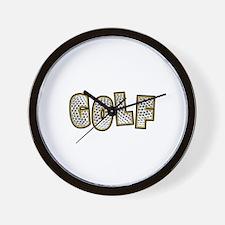 Golf2 Wall Clock
