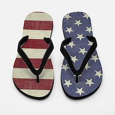 Vintage Us Flag Flip Flops