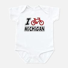 I Love Cycling Michigan Infant Bodysuit