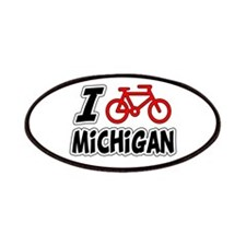 I Love Cycling Michigan Patches