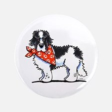"Landseer Newfie Sailor 3.5"" Button"