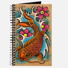Koi Fish Art by Julie Oakes Journal