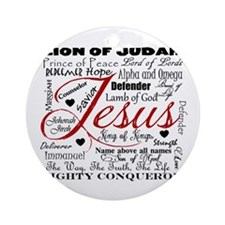 The Name of Jesus Ornament (Round)