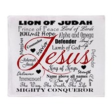 The Name of Jesus Throw Blanket