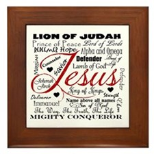 The Name of Jesus Framed Tile