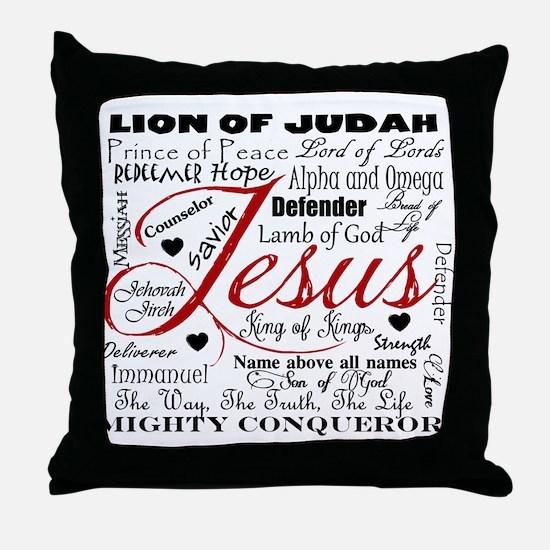 The Name of Jesus Throw Pillow
