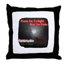 Under Wolf Protection Throw Pillow