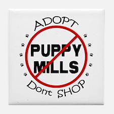 Adopt Don't Shop Tile Coaster