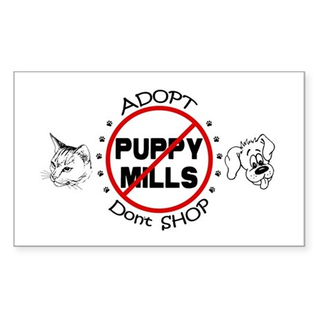 Adopt Don't Shop Sticker (Rectangle)