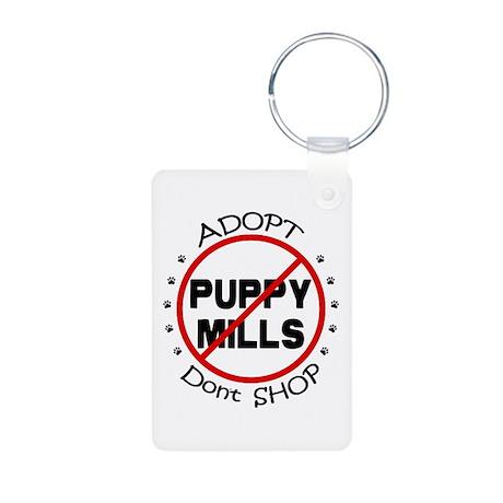 Adopt Don't Shop Aluminum Photo Keychain