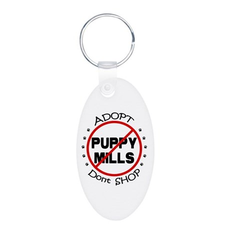 Adopt Don't Shop Aluminum Oval Keychain