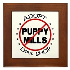 Adopt Don't Shop Framed Tile