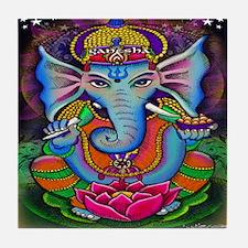 Ganesha Art by Julie Oakes Tile Coaster
