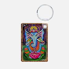 Ganesha Art by Julie Oakes Keychains