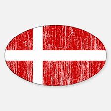 Denmark Flag Sticker (Oval)