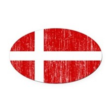Denmark Flag Oval Car Magnet