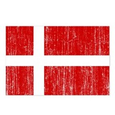 Denmark Flag Postcards (Package of 8)