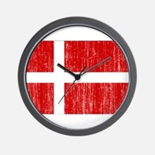 Denmark Flag Wall Clock