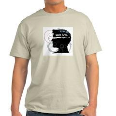 Revolutions Start Here Graphic Ash Grey T-Shirt