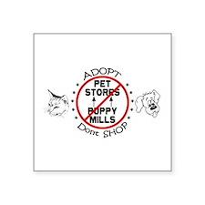 "Adopt Don't Shop Square Sticker 3"" x 3"""