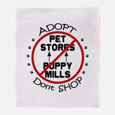 Adopt Don't Shop Throw Blanket