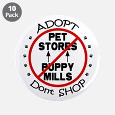 """Adopt Don't Shop 3.5"""" Button (10 pack)"""