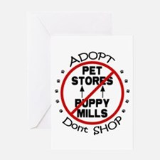 Adopt Don't Shop Greeting Card