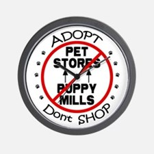Adopt Don't Shop Wall Clock