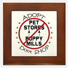 Adopt Don't Shop Framed Tile