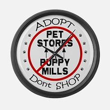 Adopt Don't Shop Large Wall Clock