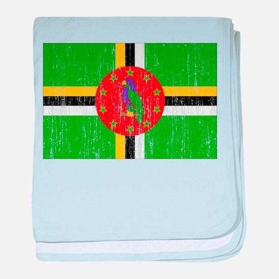 Dominica Flag baby blanket