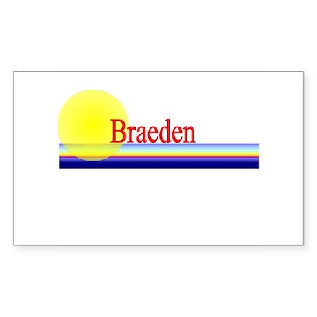Braeden Rectangle Sticker