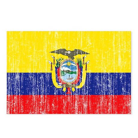 Ecuador Flag Postcards (Package of 8)